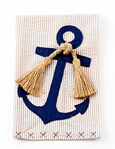 Mud Pie Linen Nautical Towel- Anchor