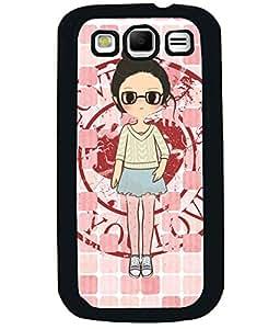 PRINTVISA Premium Metallic Insert Back Case Cover for Samsung Galaxy Grand Quattro - I8552 - D5727