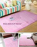 Luxbon Approx. 15.74inch X23.62inch Velvet Wholesales Color Pink Soft/smooth/flexible Carpet/mat/rug Floor/ Bedroom/living Room/bathroom/kitchen/area/home Decoration