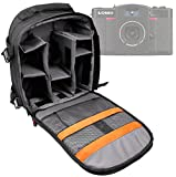 DURAGADGET Premium Quality, Water-Resistant Action Camera Rucksack / Backpack with Customizable Interior & Raincover for the Lomography Lomo LC-Wide