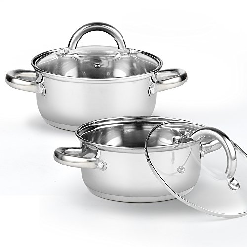 Cook N Home 2479 Tapas Pan (2 Pack), 1.5 quart/5.5