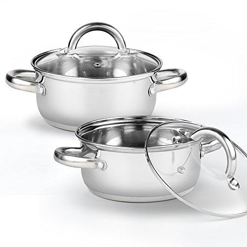 Cook N Home 2479 Tapas Pan (2 Pack), 1.5 quart/5.5