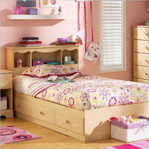 South Shore 3272-080 Lily Rose Mates Kids Bed, Romantic Pine