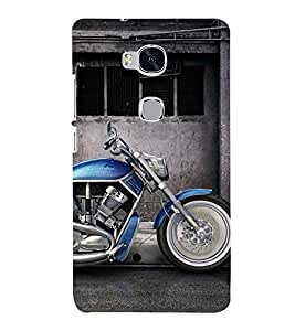 Fantastic Blue Bike 3D Hard Polycarbonate Designer Back Case Cover for Huawei Honor 5X :: Huawei Honor X5 :: Huawei GR5
