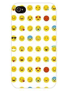 iPhone 4 Cover - Whatsapp Emoji - Emoticons - Designer Printed Hard Shell Case