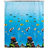 Wenko Shower Curtain 180x200 Ocean, PEVAby Wenko