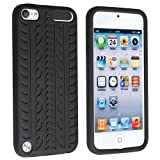 eForCity Silicone Skin Case for Apple iPod touch 5G, Black Tire Tread