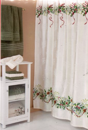 Lenox Winter Greetings Fabric Shower Curtain 72 X Inch