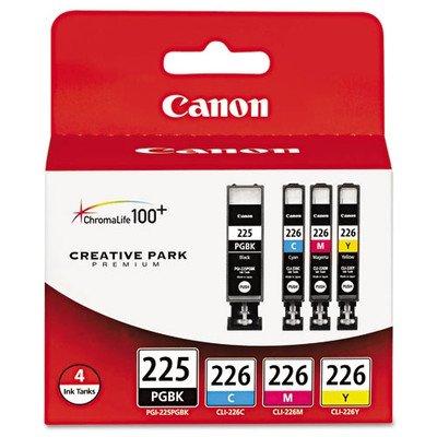 Canon 4 Pack PGI-225 BK Black CLI-226 C/M/Y Color Ink Cartridges