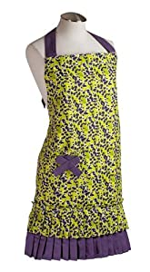 Spicy Aprons Violet Mint Julep Womens Apron by Spicy Aprons Inc.