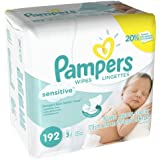 Pampers Sensitive Wipes (192 Count, Pack of 4)