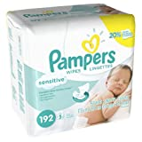Pampers Sensitive Wipes (192 Count, Pack of 4) (Health and Beauty) By Pampers          Buy new: $28.57 12 used and new from $22.00     Customer Rating: