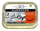 Jacques Gonidec Pikante Sardinen in Olivenöl mit Piment, 2er Pack (2 x 115 g)