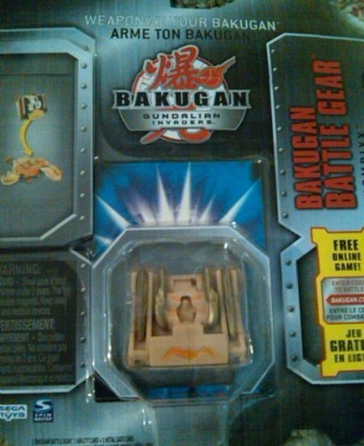 Bakugan Battle Gear Subterra Tan Chompixx with Gold attributes 80G - 1