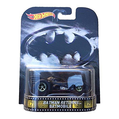Batman Returns Batmobile Hot Wheels 2015 Retro Series 1/64 Die Cast Vehicle