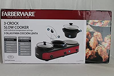 FARBERWARE 3-Crock 2.5Qt. Triple Slow Cooker from FarberWare