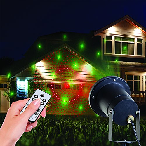 decorative outdoor holiday christmas lights show laser. Black Bedroom Furniture Sets. Home Design Ideas