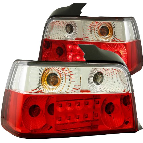 Anzo Usa 321003 Bmw Red/Clear Led Tail Light Assembly - (Sold In Pairs)