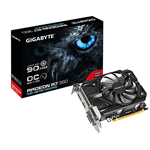 Gigabyte AMD R7 360 128 Bit GDDR5 2GB 2xDVI/HDMI/DP Overclocked Graphics Card (GV-R736OC-2GD REV2.0)