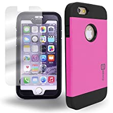 buy Iphone 6 Case By Coveron® Spectra Series; (Hot Pink + Black) Heavy Duty Full Body Protection, Phone Cover For Apple Iphone 6 (4.7 Inch Only) - [Ultra Rugged Protector]