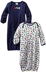Gerber Baby-Boys Sports 2 Pack Lap Shoulder Gown by Gerber