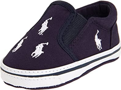 Ralph Lauren Layette BAL Harbour Slip on (Infant/Toddler),Navy/Green,0 M US Infant