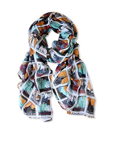 Printed Village Women's Stamps Scarf, Multi