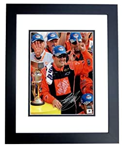 Tony Stewart Autographed Hand Signed Nascar 8x10 Photo - BLACK CUSTOM FRAME by Real Deal Memorabilia
