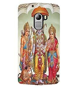 ColourCraft Lord Ram Laxaman Janaki and Hanuman Design Back Case Cover for LENOVO VIBE X3 LITE