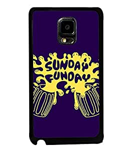 Fuson Premium 2D Back Case Cover Sunday Funday With red Background Degined For Samsung Galaxy Note Edge::Samsung Galaxy Note Edge N915