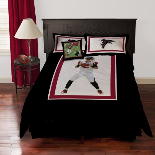 Nfl Biggshots Bedding - Atlanta Falcons Matt Ryan Comforter Set And Toss Pillow, Full front-1057882