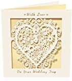 Wedding Day Card, with love, heart, bride, groom, special occasion