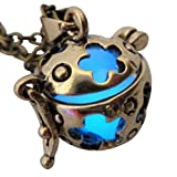 Wishing ball Fairy Magical Fairy Glow in the Dark Necklace-blue-bronze