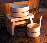 木曽ひのき 風呂椅子・風呂桶・手桶セット