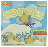 Tasty Brand Organic Cookies, Vanilla, 4.4-Ounce (Pack of 3)