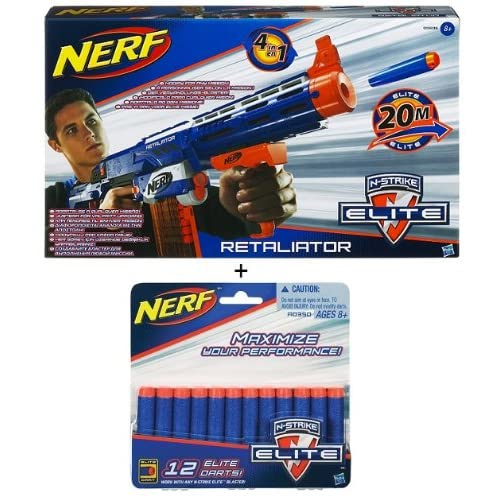 Nerf 98696 N-Strike Elite Retaliator + Nerf A0350 N-Strike Elite 12 Darts