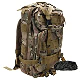 ZTDM (TM) Waterproof 20L 3P Tactical Backpack Unisex Bag CP with Eye Mask