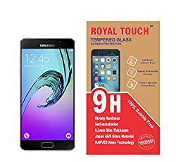 Royal Touch (TM)100% Bubble Free Edge to Edge Cover Japanese AGC Tempered Glass Screen Protector Scratch Gard For Samsung Galaxy A5100 (A5-2016)