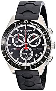 Tissot Men's T0444172705100 Prs-516 Black Dial Chronograph Rubber Strap Watch
