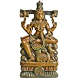 Lord Shiva As Pashupatinath - South Indian Temple Wood Carving