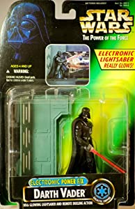 1996 - Hasbro / Kenner - Star Wars - The Power of the Force - Darth Vader Galactic Empire Action Figure - Electronic Power F/X - Glowing Lightsaber & Remote Dueling Action - New - Out of Production - Limited Edition - Collectible