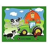 John Deere Heavy Fleece Throw Blanket - Forever Farm & Tractor Scene