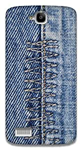The Racoon Lean Denim Zigzag hard plastic printed back case / cover for Huawei Honor Holly