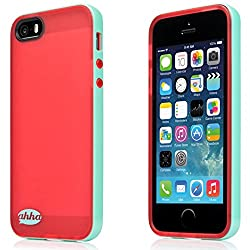 Ahha Lulla Tonemix Soft back Case for Apple iPhone 5 / 5S / SE  - Red / Green (A-SCIH5-TL96)