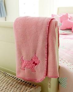 Catherine Lansfield Scottie Dog Throw, Pink
