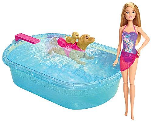 Barbie DMC32 - Bambola Barbie Nuota Coi Cuccioli