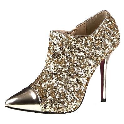 High-Heels-Stiefeletten: Damen Schuhe, 9153-P, PUMPS