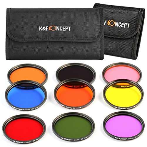 kf-concept-58mm-9pcs-round-full-color-filter-set-orange-blue-grey-red-green-brown-yelow-purple-pink-