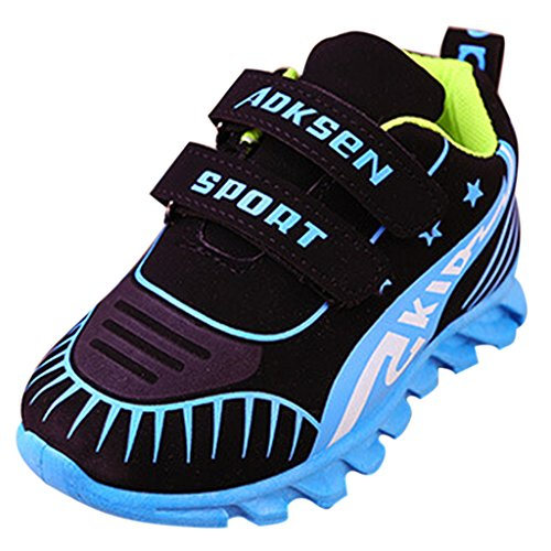 GETUBACK Kids Boys Girls Casual Outdoor Running Sneakers Sport Shoes Light Blue CN Size 28 (Baby Shoes For Fat Feet compare prices)