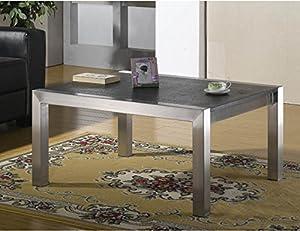 couchtisch wohnzimmertisch edelstahl mit granitplatte. Black Bedroom Furniture Sets. Home Design Ideas